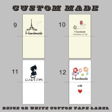 3.5cm/4CM width raw/off white cotton Sewing Labels, children Clothing/Name Tags, Handmade labels/print color logo cotton label