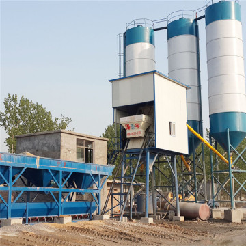 HZS50 fixed concrete batching plant for building