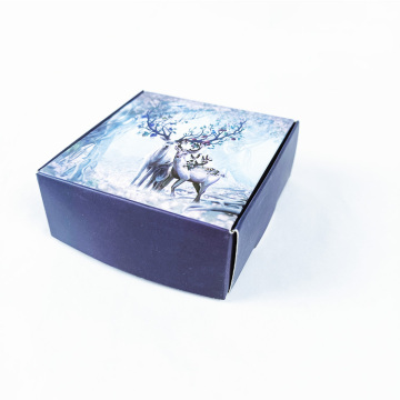 Small coated paper packaging gift box