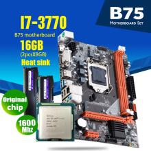 Atermiter B75 Motherboard Set With Intel Core I7 3770 2 x 8GB = 16GB 1600MHz DDR3 Desktop Memory Heat Sink USB3.0 SATA3