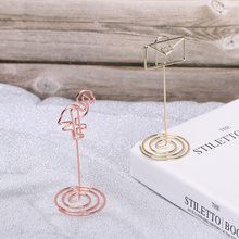 Fashion Place Card Holder Romantic Flamingo Pattern Note Clip Clamps Stand Desktop Decoration Photos Clips Wedding Supplies