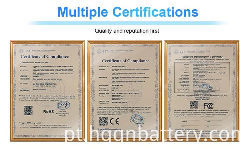 Certificate of Lithium Lion Battery