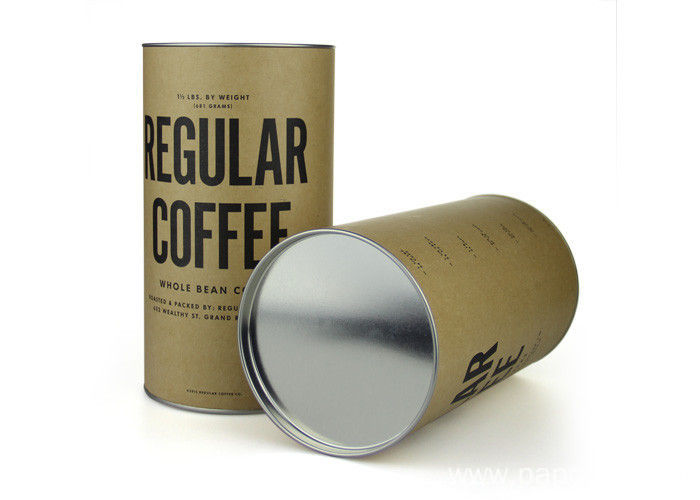 1 Piece Cardboard Tube with Metal Lid
