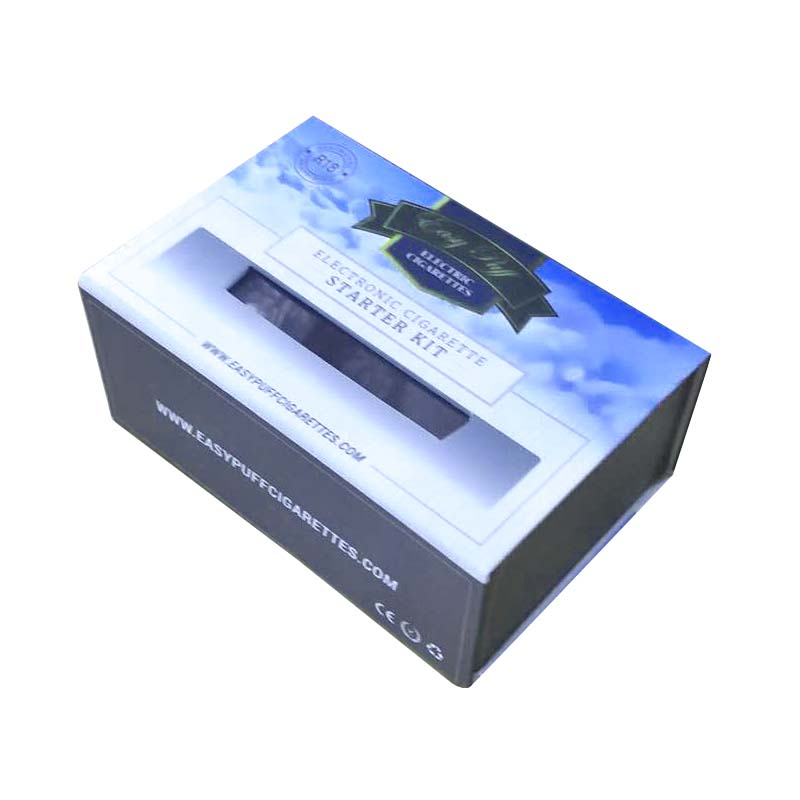 E-cigarette starter kits packaging box