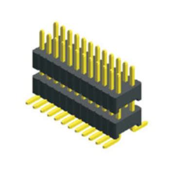1.27X2.54mm Pitch Dual Row Double Plastic SMT