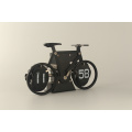 Luxury Black Bicycle Table Flip Clock