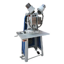 Heavy duty auto double head eyelet machine