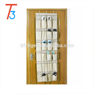 24 Pocket Over Door Hanging Holder Shoe Organiser Storage Rack Wall Closet Bag