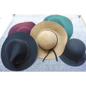 Luxury fashion teal trilby hat wool felt hat