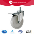 4'' Thread Stem Swivel Industrial PP Caster With Brake