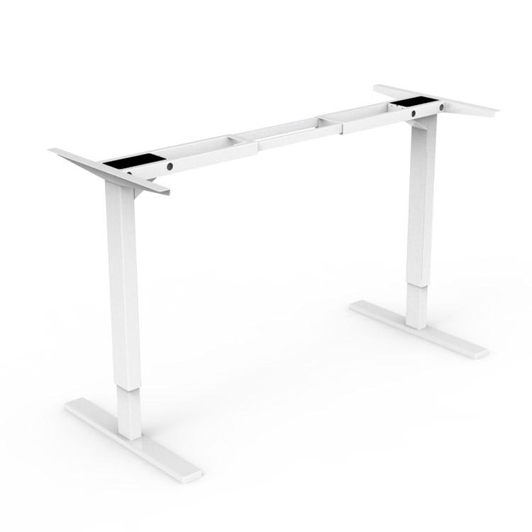 Dual Motor Lifting Desk Frame With Metal Legs