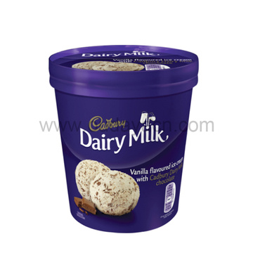 500ml plastic frozen ice cream cups with lid