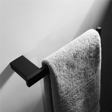 Bathroom Towel Rack Stainless Steel Black Shower Rack