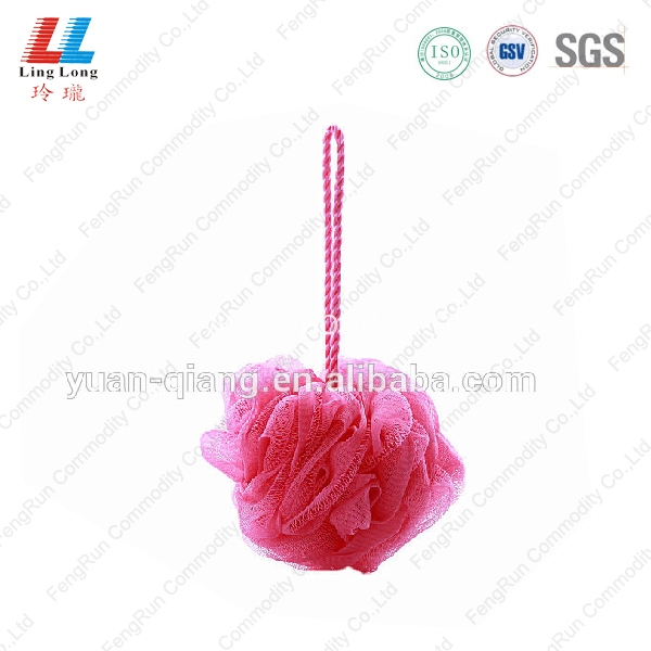 mesh pouf bath sponge shower scrub cleaner