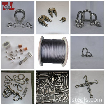 Stainless steel high tensile strength wire rope