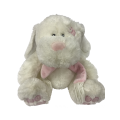 Chubby Rabbit Toy With Pink Scarf