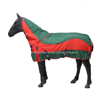 600d combo polyester horse rug with detachable neck