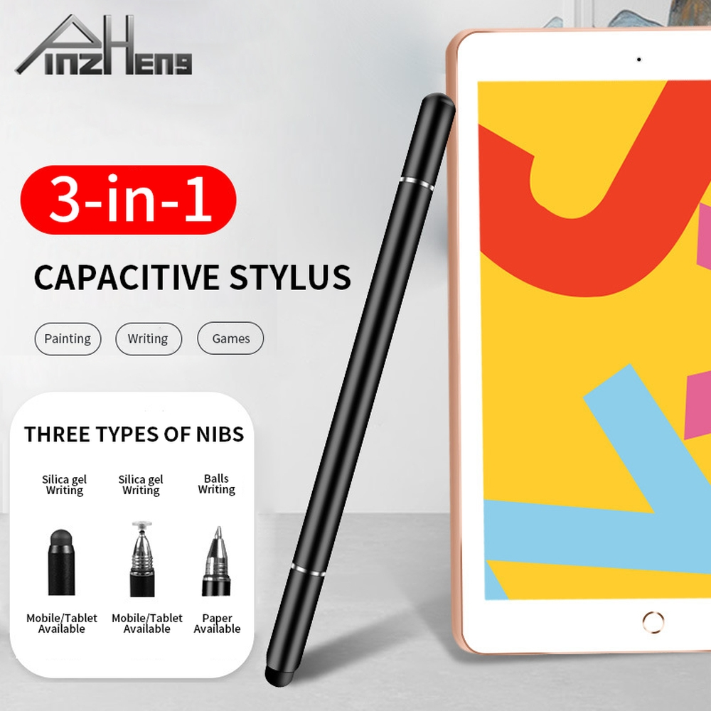 PINZHENG Universal 3 in 1 Stylus Touch Pen For Android Drawing Tablet iPhone Mobile Phone Smartphone iPad Touch Screen Pen