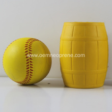 Yellow Waterproof Bright PU Rubber Can Coolers