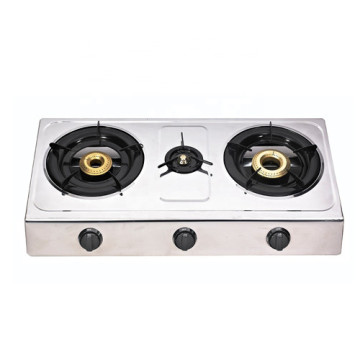 Gas Stoves 3 Burner Butterfly Stainless Table