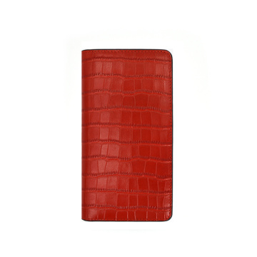 Crocodile Pattern Flip Genuine Leather Phone Case