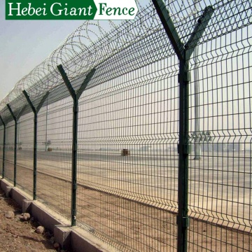 High Quality Power Coated Welded Airport Fence