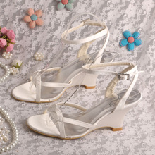 Ladies Wedge Bridal Wedding Sandals