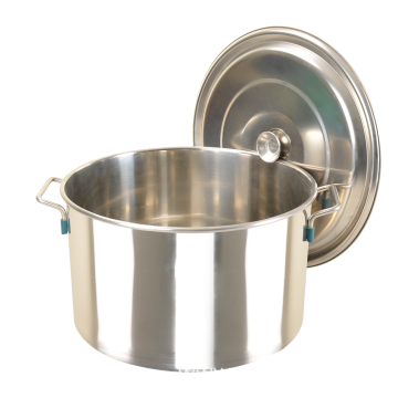 Oblique Style Short Stainless Steel Soup Barrel
