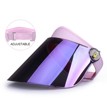 Purple mirror laser uv hard visor hat