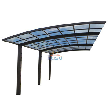 Garage Carport With Solid Polycarbonate Roof