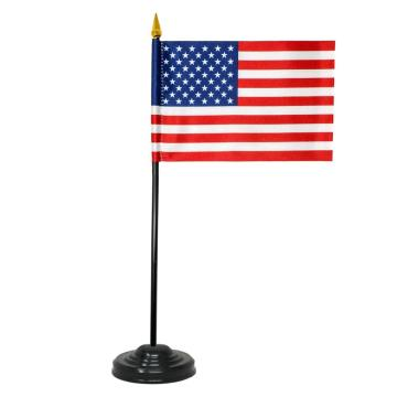Factory USA american 14*21cm polyester table flag