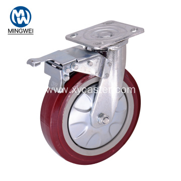 8 Inch PVC Caster Wheel with Brake