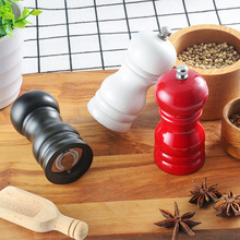 Manual Wooden Pepper Grinder Handheld Seasoning Spice Salt Grain Mill Portable Practical Household Convenient Kitchen Tools