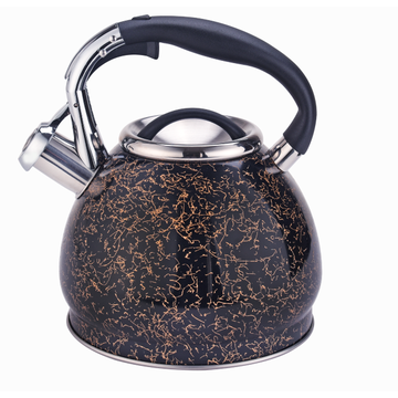 3L belly shape stainless steel whistling kettle