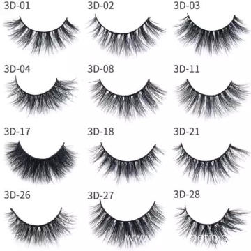 Wholesale 5 pairs 3d mink fur false eyelash 3d mink eyelashes