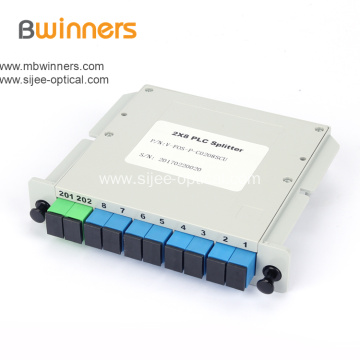 2X8 Fiber Optic Ftth PLC Splitter Distribution Box