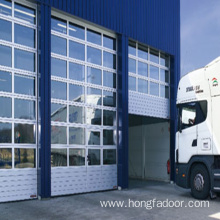 Transparent Sectional Acrylic Garage Door