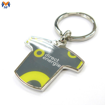 Promotional gift Metal Custom T Shirt Keychain