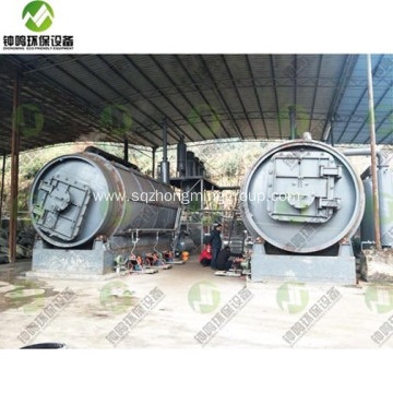 Waste Tire Recycling Oil Equipment With CE