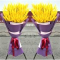 Dried Wheat Ear Bunches Flower Bouquets Natural Raw Color DIY Wedding Party Home Decoration