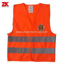 2020 newest reflective kids safety vest orange