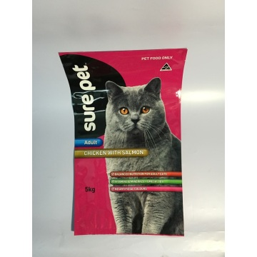 Cat Feed Bag Packaging Custom Bag Shape