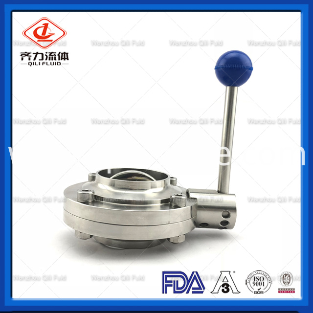 Sanitary Stainless Steel Butterfly Valve 34