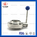 China Supplier Sanitary Stainless Steel Butterfly Actuator Valve