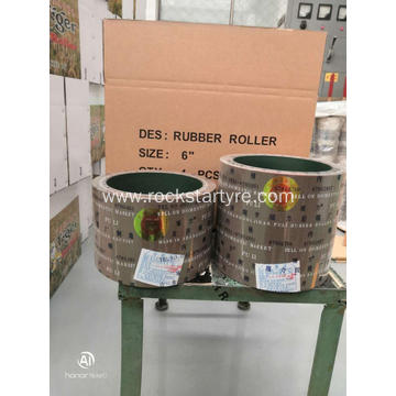 China SBR rubber roller 10inch iron drum  for rice milling part