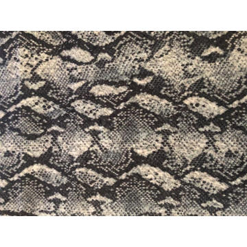 BRUSH PRINT KNIT FABRIC