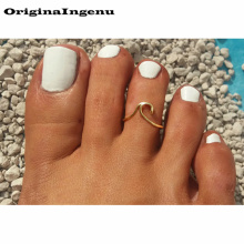 925 Silver Toe Ring Gold Filled Jewelry Handmade Adjustable Toe Ring 15mm Hoop Rings Jewelry For Women Boho Foot Jewelry
