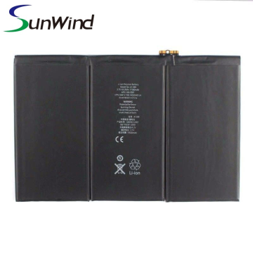 Tablet PC li-polymer ipad 3/4 battery A1389