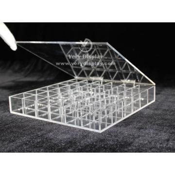 Customized clear acrylic caddy storage box