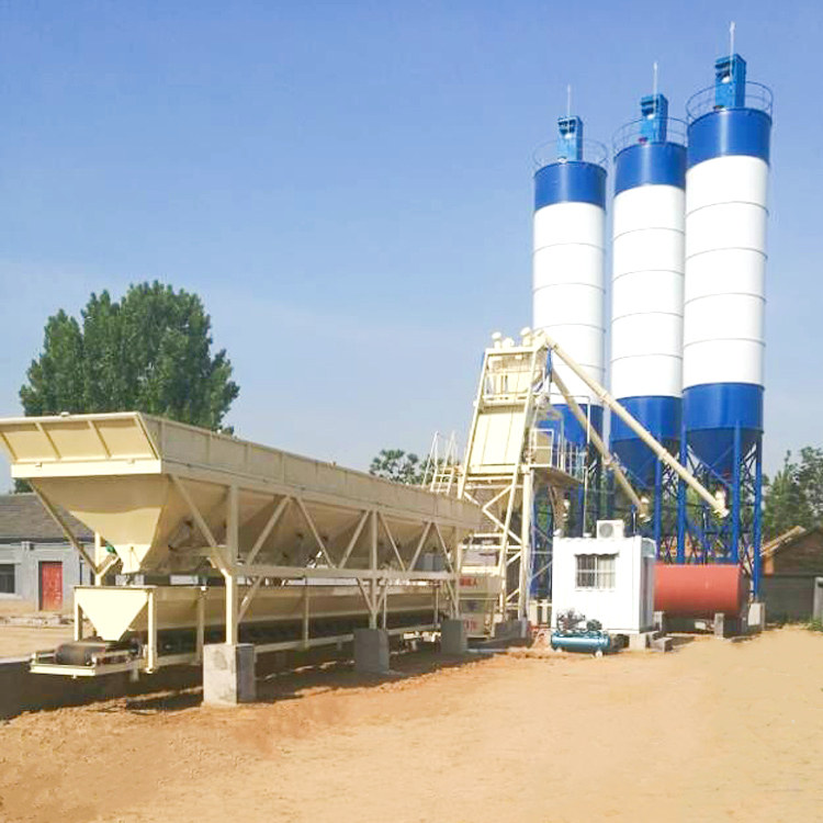 75m3h HZS Hopper Type Advanced Concrete Batching Plant